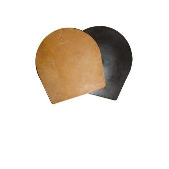 Kombiplatte MUSTAD, Leder-Kunststoff, voll, flach (Paar)